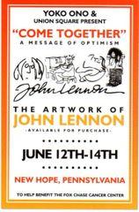 John Lennon art show postcard 2009