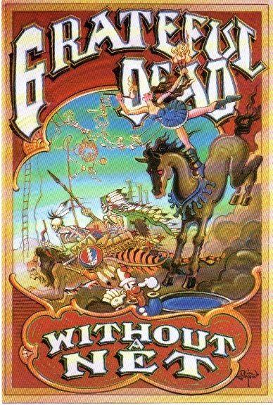 Grateful Dead WIthout a Net promo postcard 1990