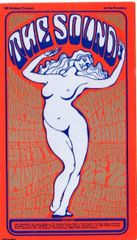 The Sound - Bill Graham postcard by Wes Wilson