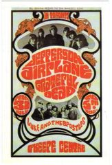 Grateful Dead and Jefferson Airplane BG-74 postcard