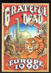 Grateful Dead Europe 1990 postcard