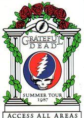 Grateful Dead backstage - Greek Theater postcard