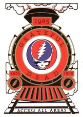 Grateful Dead Backstage Pass Casey Jones postcard