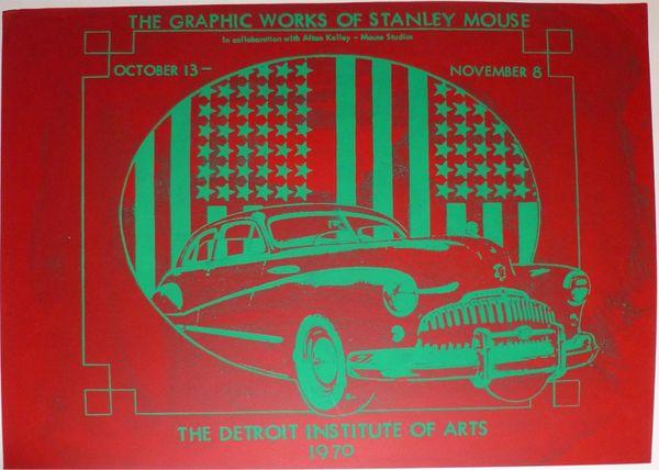 Stanley Mouse silkscreen monoprint