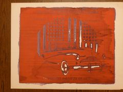 Stanley Mouse silkscreen monoprint (#2)