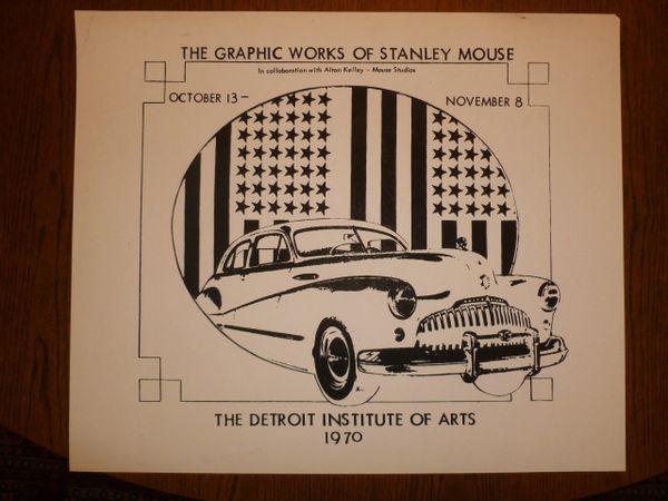 Stanley Mouse studio print - Detroit Institute of Art - 1970