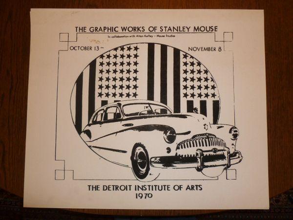 Stanley Mouse studio print - Detroit Institute of Art - 1970 (B)