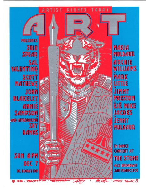 Artist Rights Today II handbill 1986