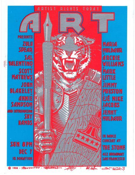 Artist Rights Today II handbill 1986 -damaged
