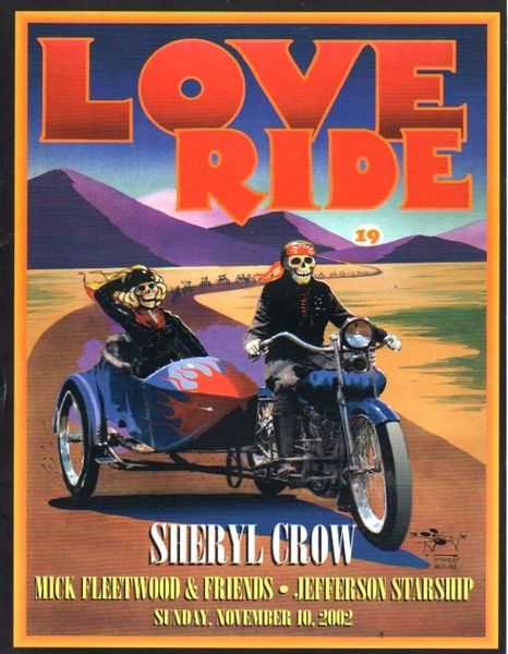 Love Ride 2002 program - Stanley Mouse, Harley Davidson
