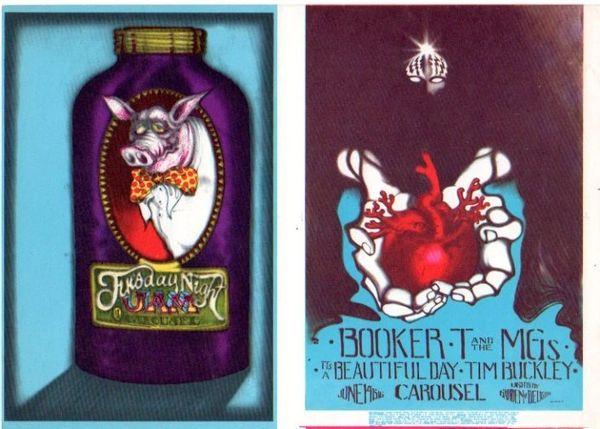 Double handbill - Carousel Ballroom - Stanley Mouse 1968