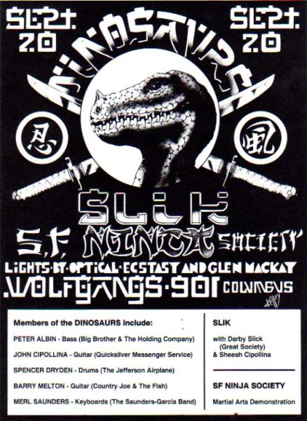 Dinosaurs - Kelley flyer 1986