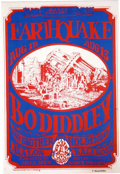 Earthquake - Stanley Mouse collector set handbill