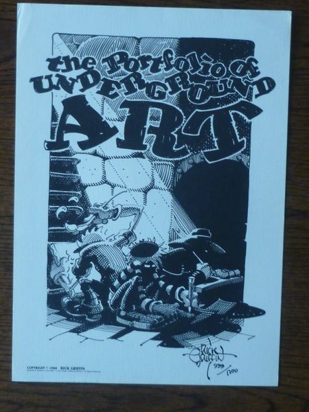 Portfolio of Underground Art - Rick Griffin signed art 999/1200