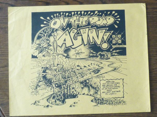 On the Road Agin - Rick Griffin - rare yellow version