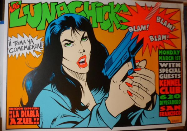 Lunachicks silkscreen poster by Frank Kozik 1993