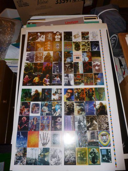 Grateful Dead collector cards (uncut sheet)