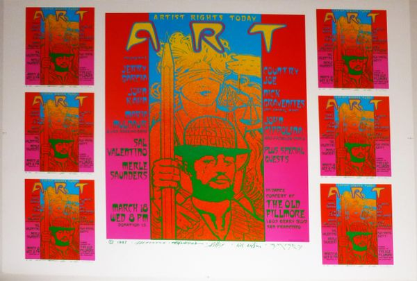 Artist Rights Today III uncut sheet 1987