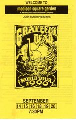 Grateful Dead handbill 1990