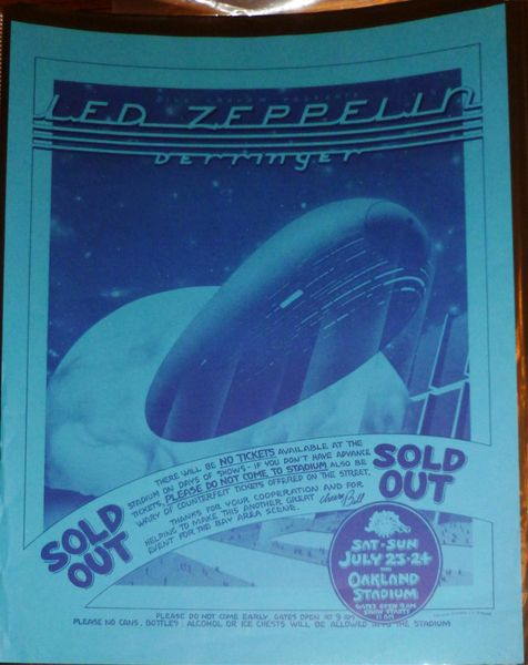 "Led Zeppelin - ""Sold Out"" - Oakland Stadium"
