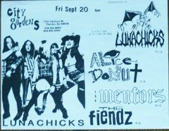Lunachicks at City Gardens, Trenton
