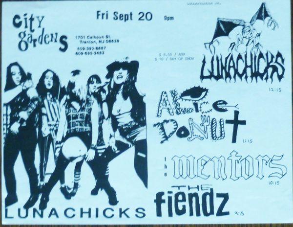 Lunachicks at City Gardens, Trenton
