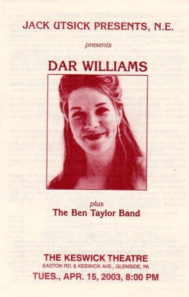 Dar Williams - two handbills