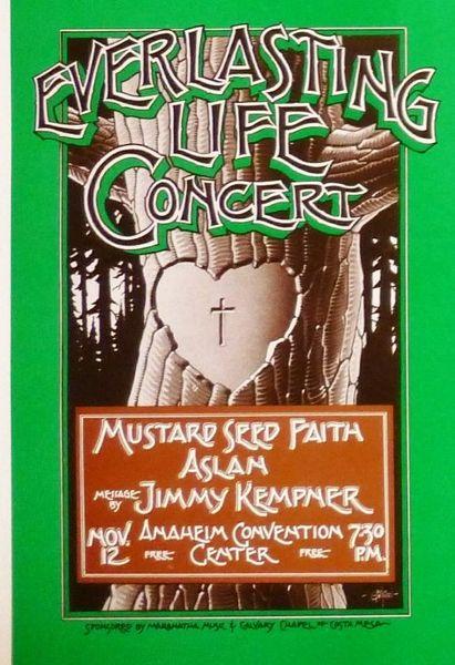 Everlasting Life Concert - uncut sheet of handbills