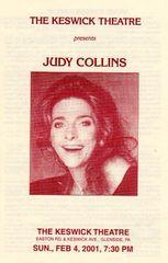 Judy Collins concert handbill