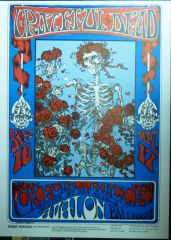 FD-26 Skeleton and Roses - Stanley Mouse - reprint