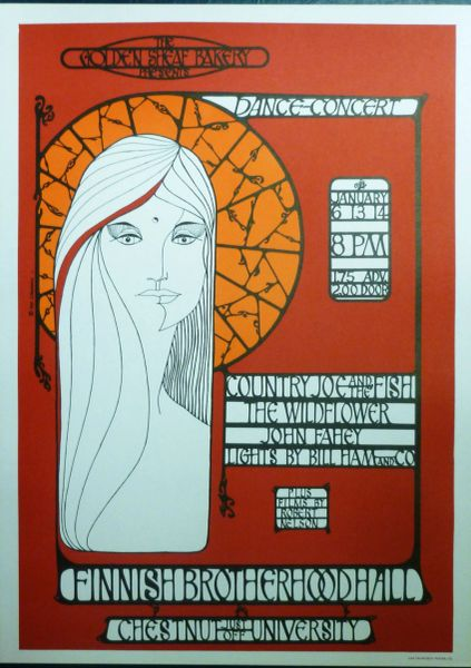 Country Joe, John Fahey 1966 poster - reprint