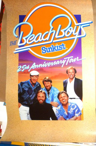 Beach Boys 25th Anniversary Tour poster 1986
