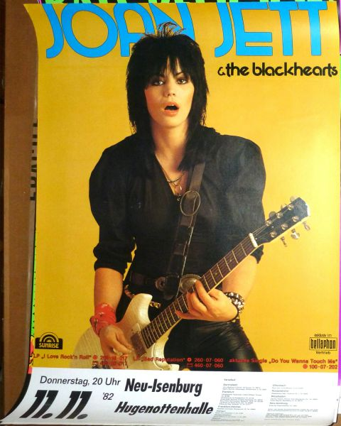 Joan Jett and the Blackhearts 1982 concert poster