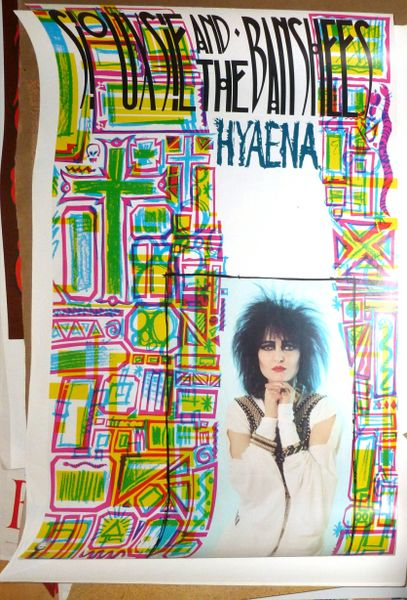 Siouxsie and the Banshees 1986 Hyaena poster