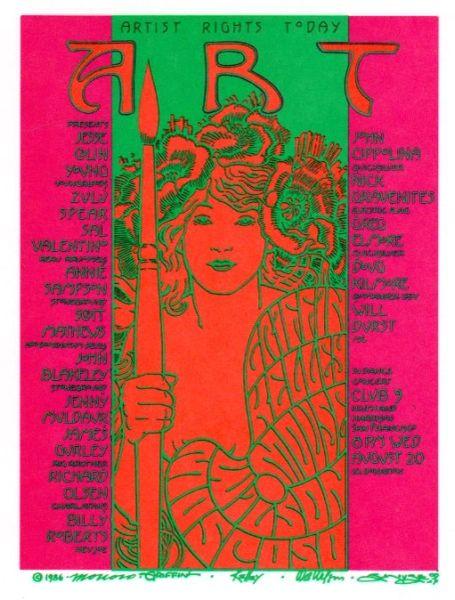 Artist Rights Today I handbill 1986