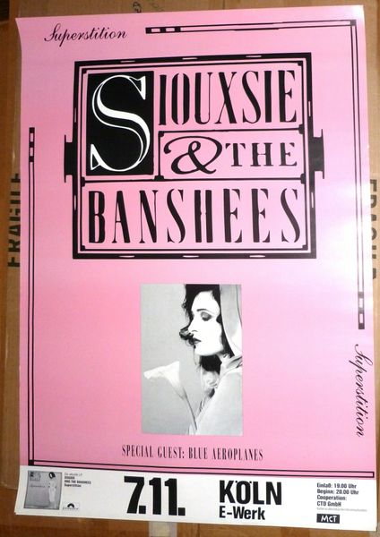 Siouxsie and the Banshees 1984 Superstition German poster