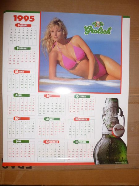 Grolsch (brewery) 1995pin-up calendar