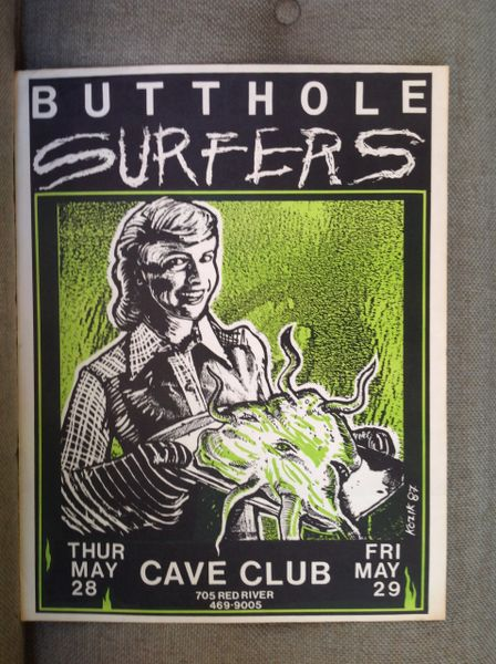 BUTTHOLE SURFERS - claassic Frank Kozik poster