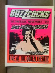 LUNACHICKS, BUZZCOCKS, DOWN BY LAW concert poster 1999