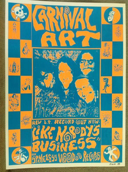 Carnival Art poster signed by Frank Kozik