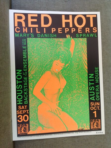 Red Hot Chili Peppers concert poster Frank Kozik 1989