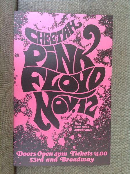 Pink Floyd at Cheetah in New York - second printing