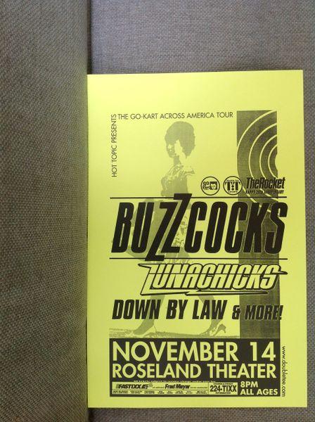 LUNACHICKS with Buzzcocks concert poster 1999