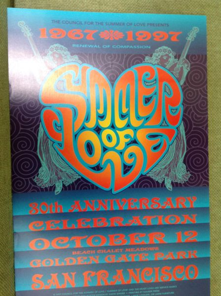 Summer of Love Anniversary 1997 poster