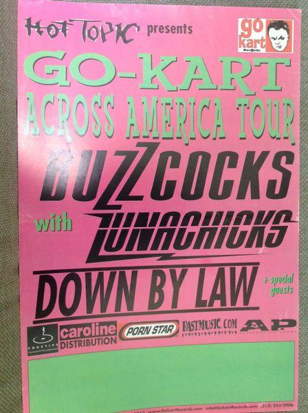 LUNACHICKS - Go-Kart across America tour poster