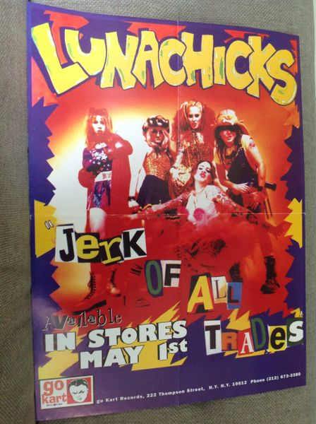 LUNACHICKS - Jerk of all Trades CD promo poster