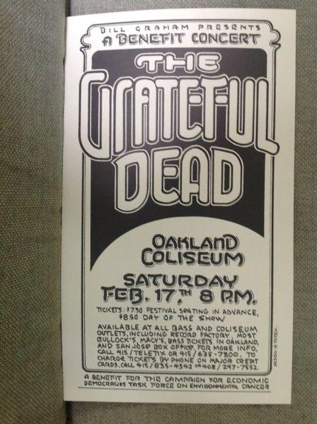Grateful Dead poster 1977