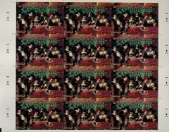 Grateful Dead Christmas postcard uncut sheet