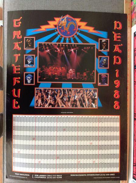 Grateful Dead 1988 Calendar poster