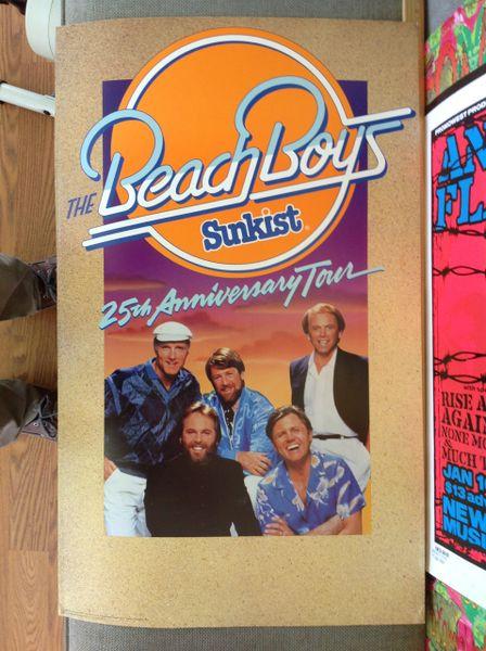 Beach Boys 25th anniversary tour poster